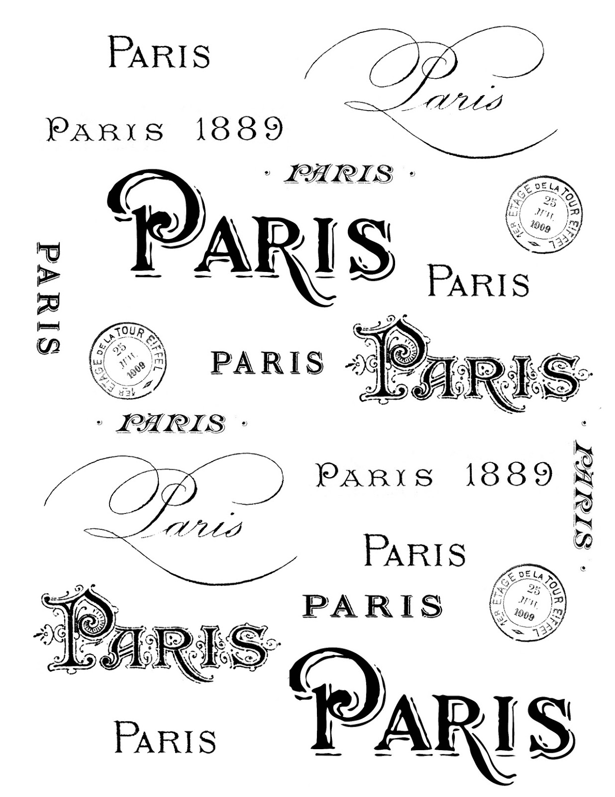 French Graphic Fairy Printables