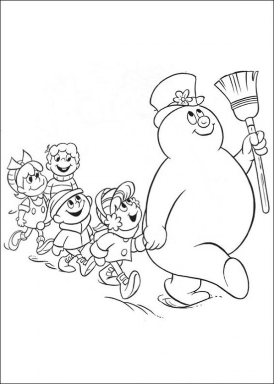 Christmas coloring pages frosty the snowman