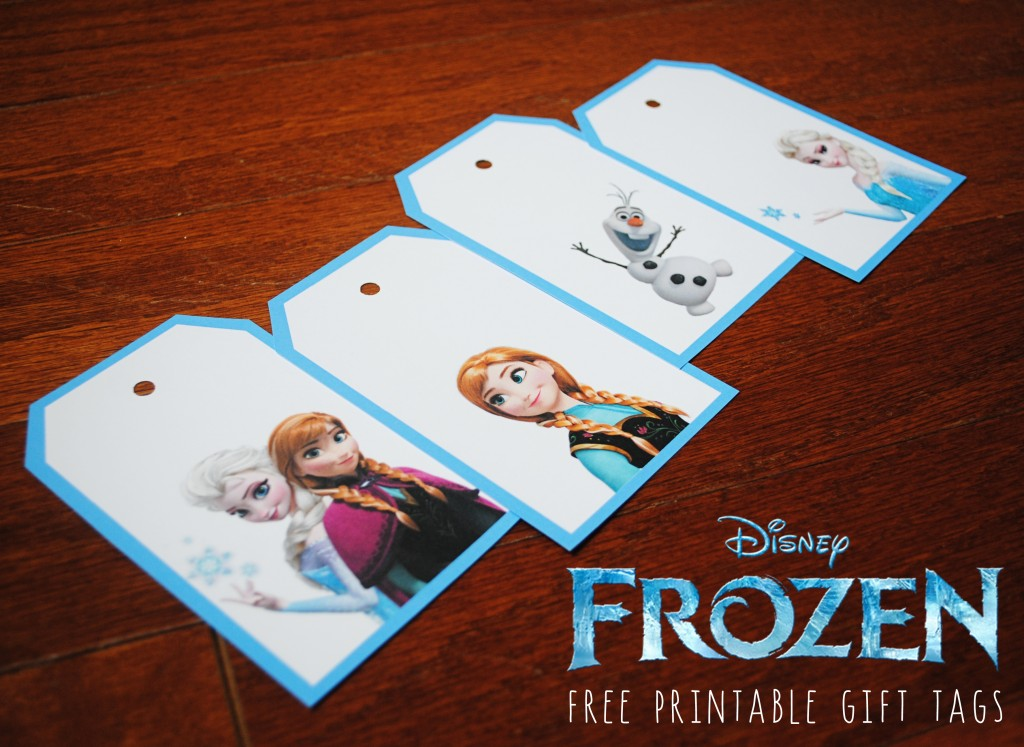 9 Images of Free Printable Frozen Gift Tags