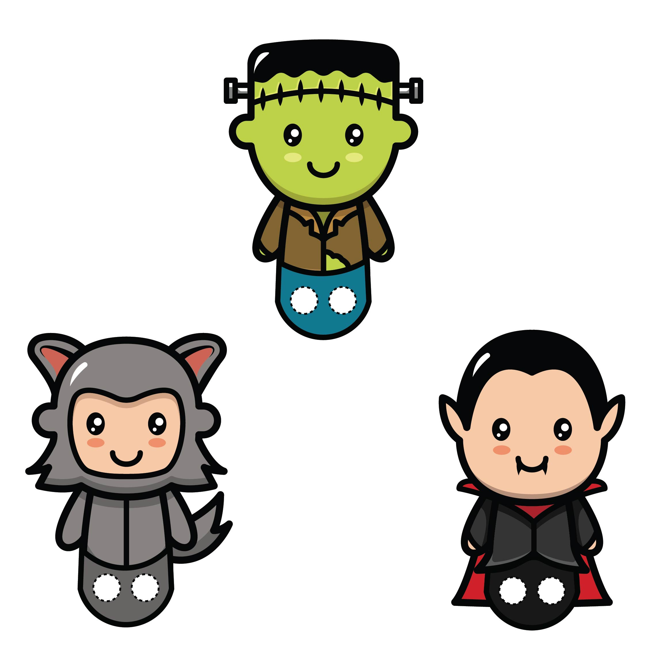 6 best images of halloween finger puppets printable for Paper finger puppets templates