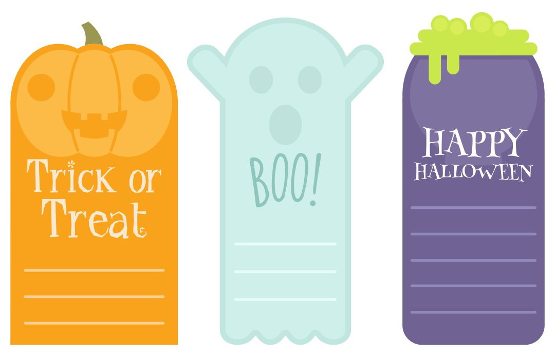 7 Images of Free Printable Halloween Tags