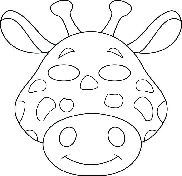 5 Images of Printable Animal Masks To Color