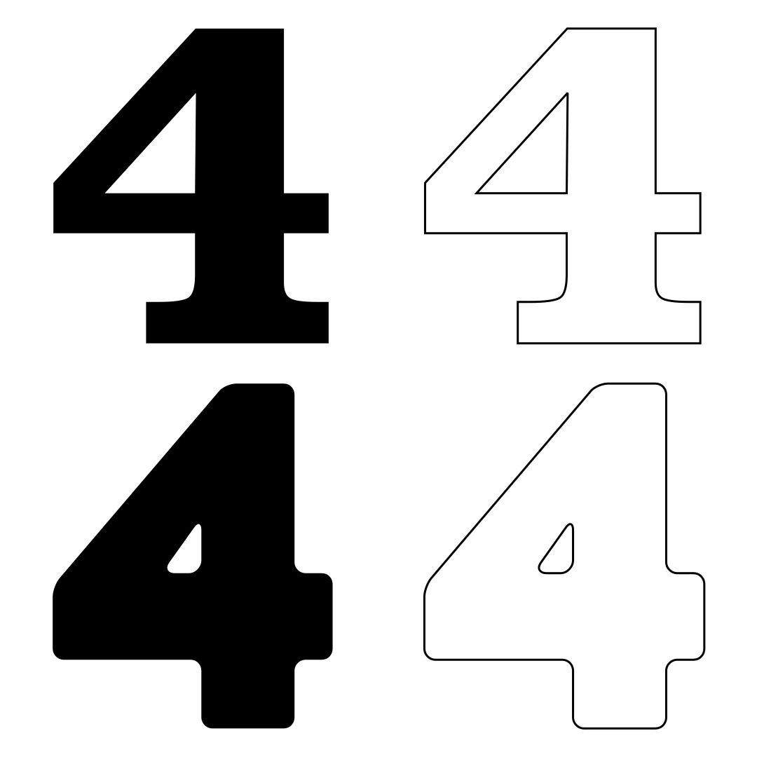 6 Images of Big Printable Number 4