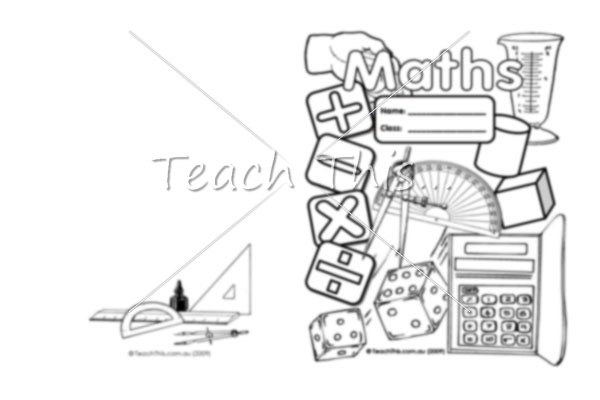 5 Images of Math Book Cover Printable