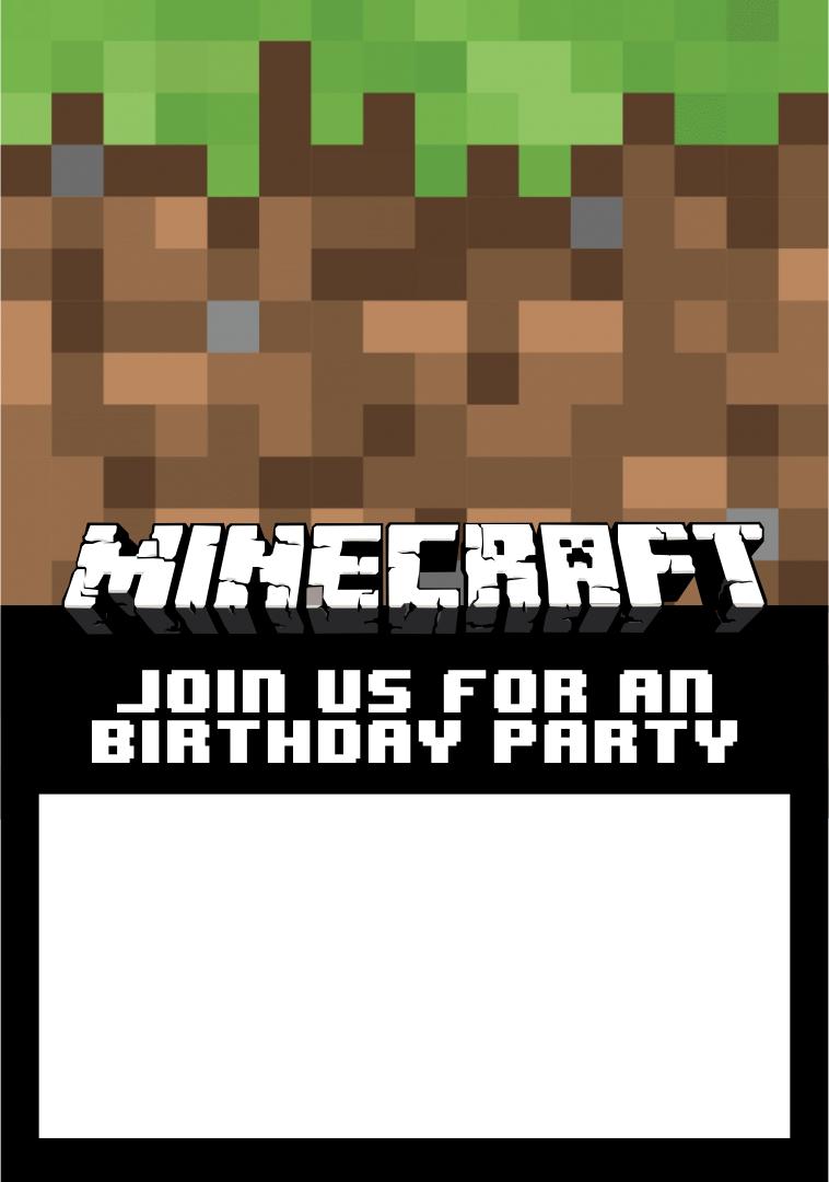 Minecraft Birthday Party Invites as perfect invitation layout