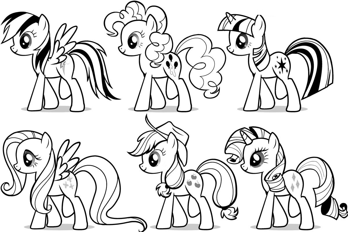 8 Images of My Little Pony Coloring Pages Free Printable