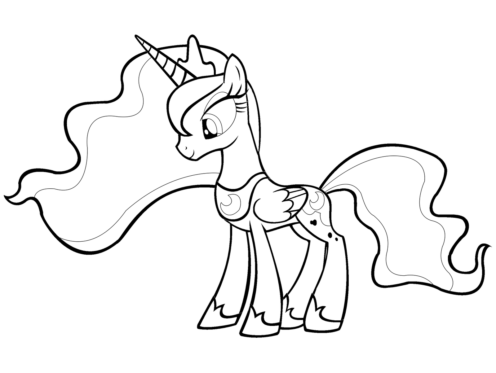 9 Images of MLP Luna Printables