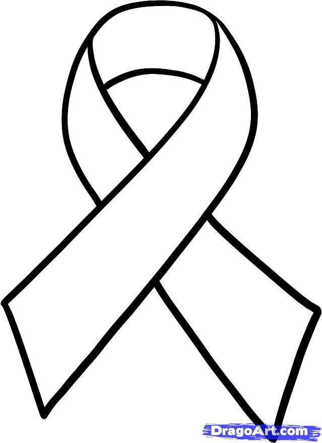6 Images of Cancer Ribbon Printable Cutouts