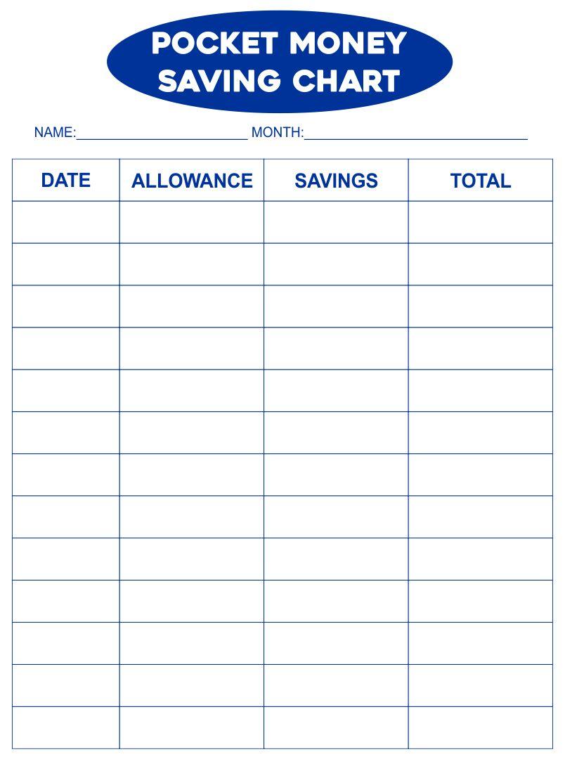 Pocket Money Savings Chart