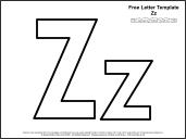Preschool Letter Z Template