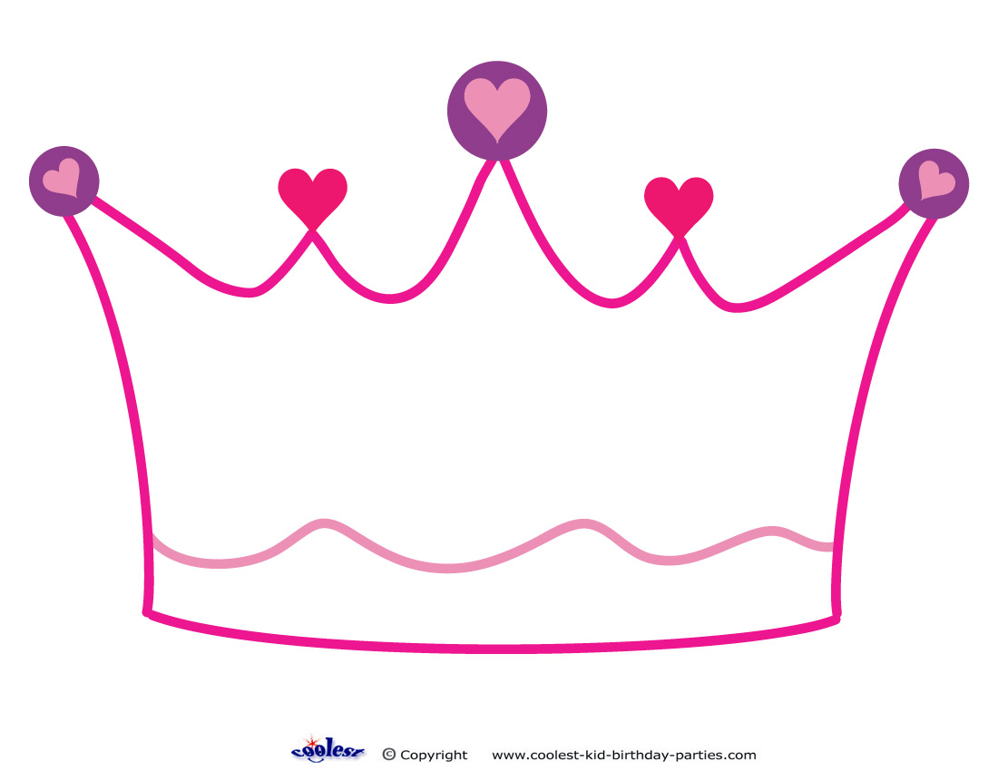 5 Images of Princess Crown Stencil Printable
