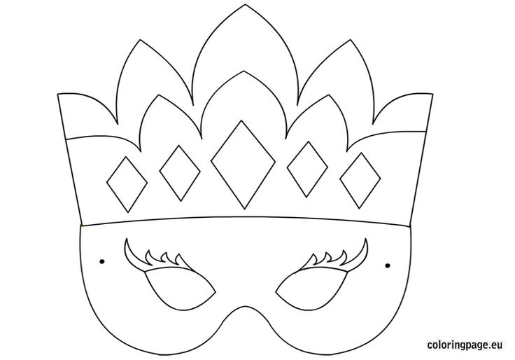 8 Best Images Of Printable Princess Masks Halloween Mask Princess Stencil Free Coloring Sheets