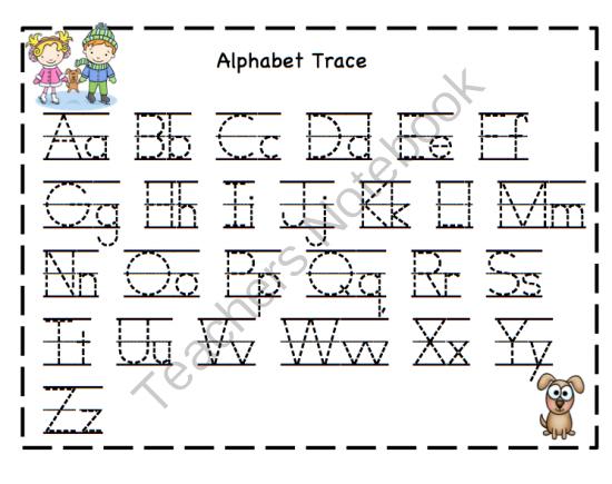 Free Worksheets » Kids Alphabet Tracing - Free Printable ...