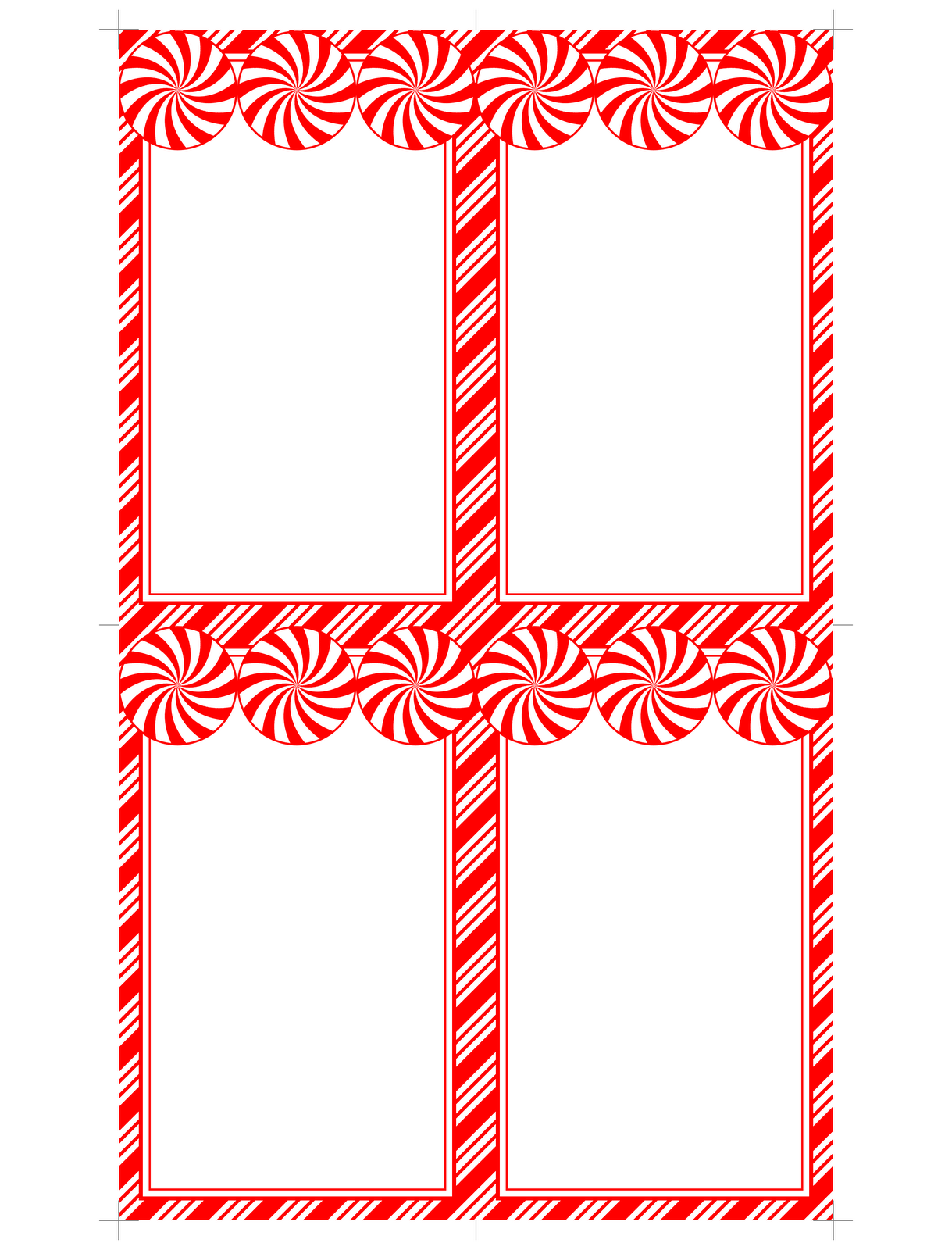 Printable Blank Christmas Gift Tags Templates