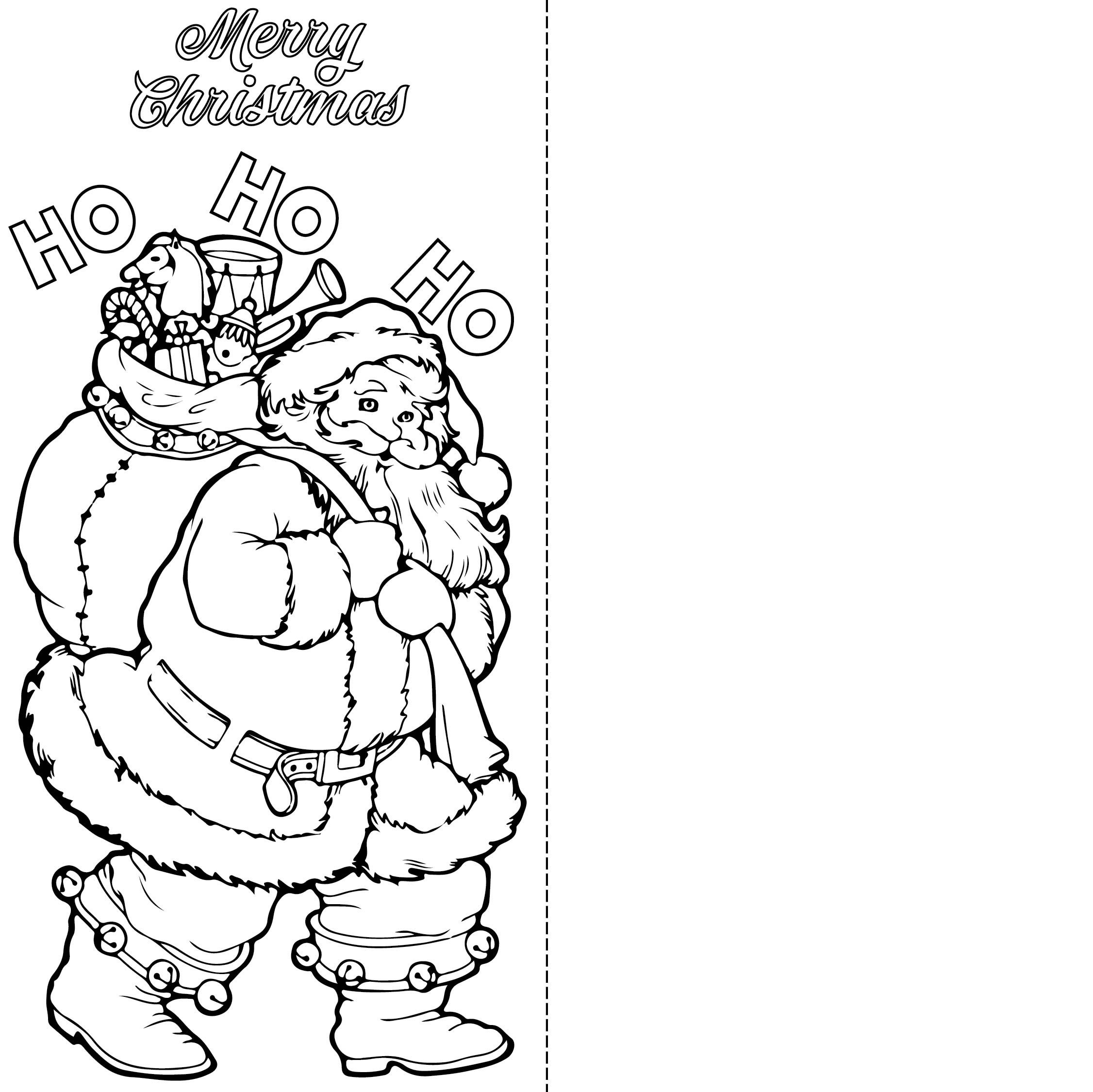Printable Christmas Cards Kids Color