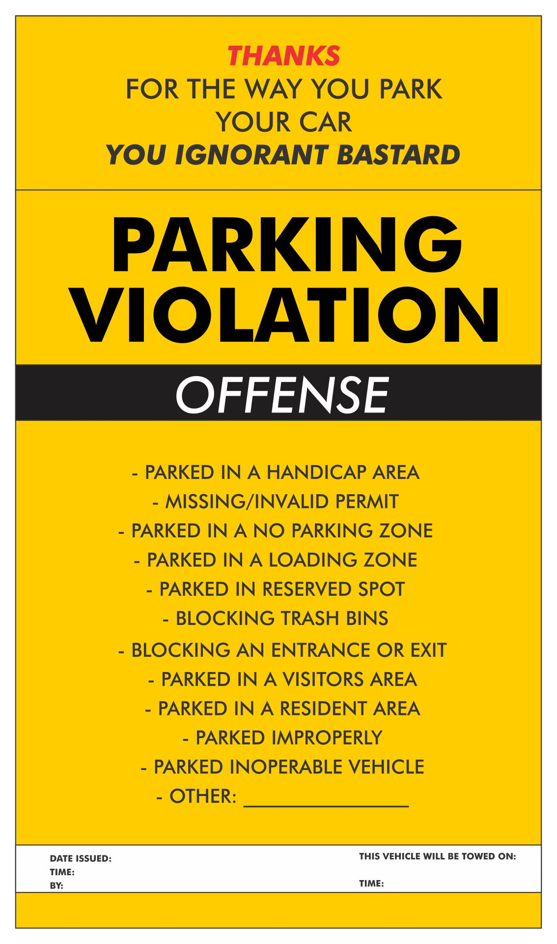 5 best images of free printable violation tickets printable fake parking ticket fake parking. Black Bedroom Furniture Sets. Home Design Ideas