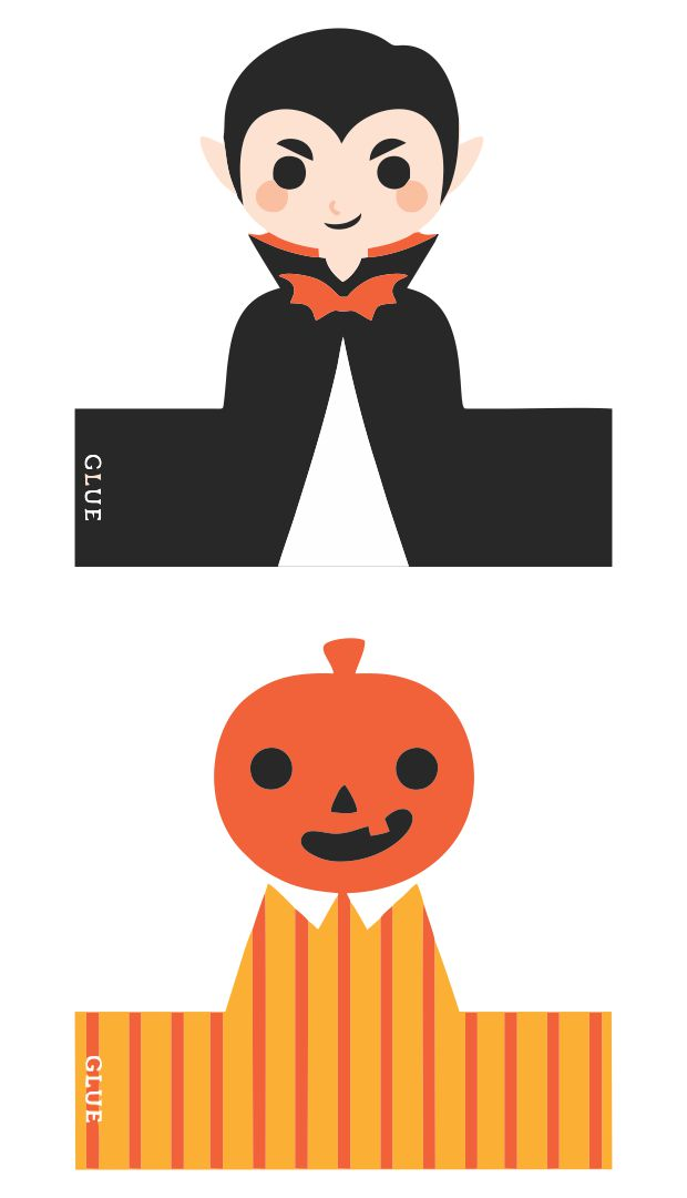6 Images of Halloween Finger Puppets Printable Patterns