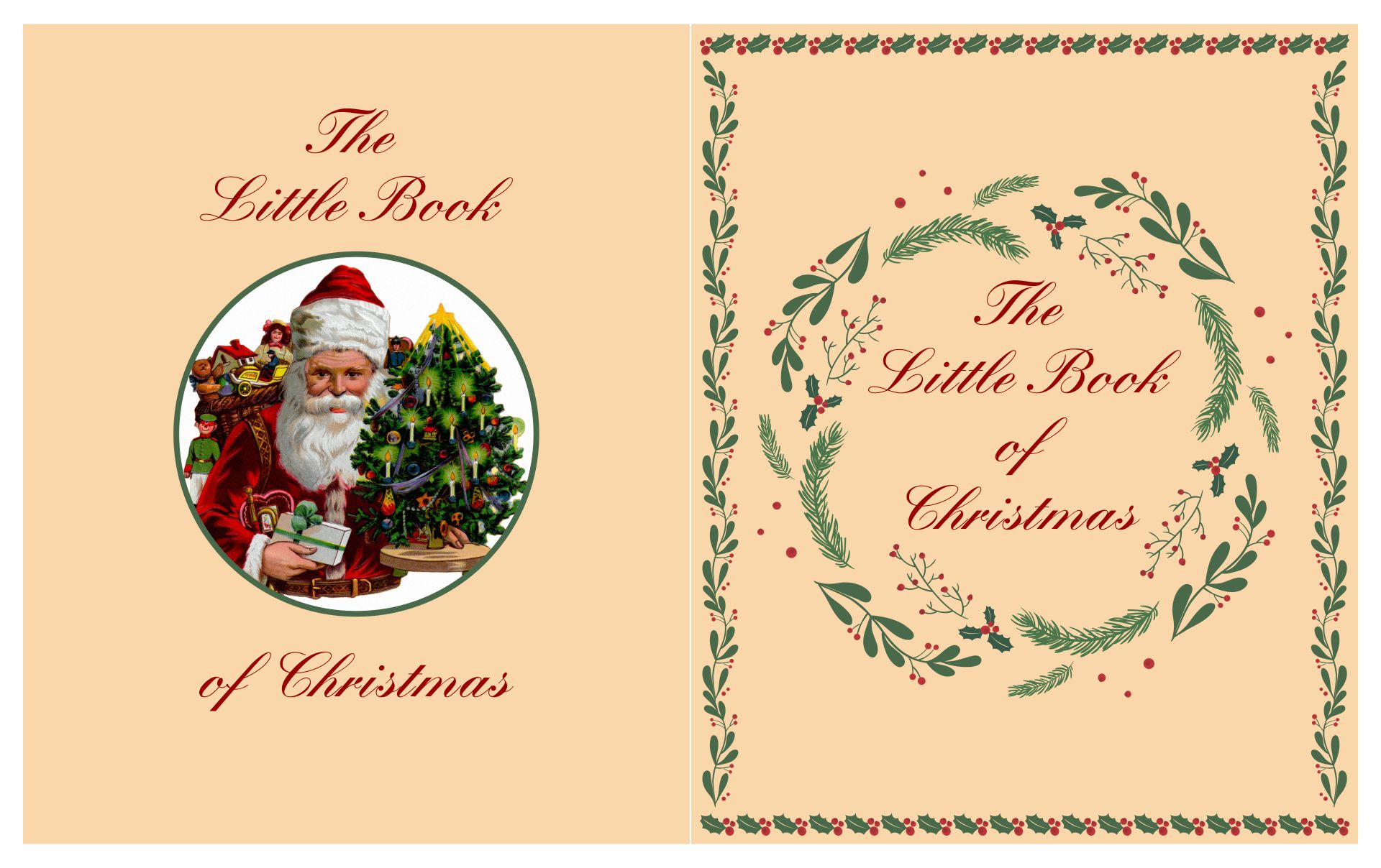 6 Images of Christmas Miniature Printable Book Covers