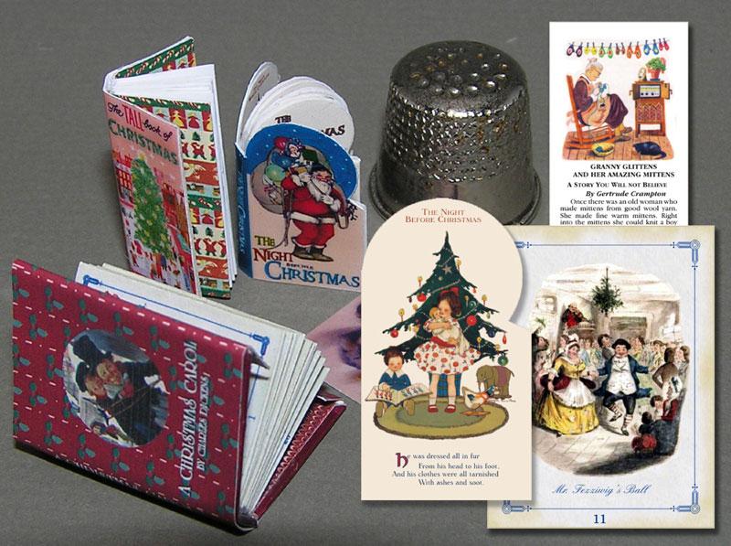 Printable Miniature Book Covers Christmas