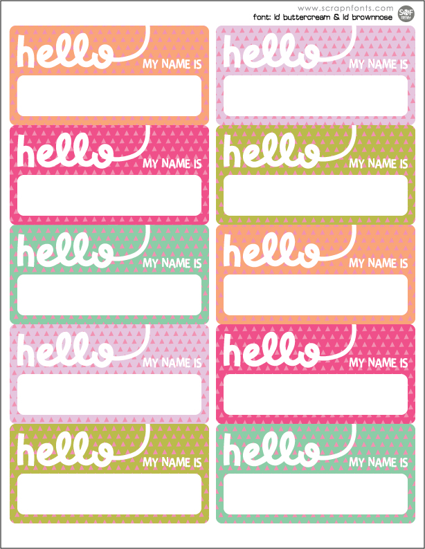 6 Images of Cool Name Printables