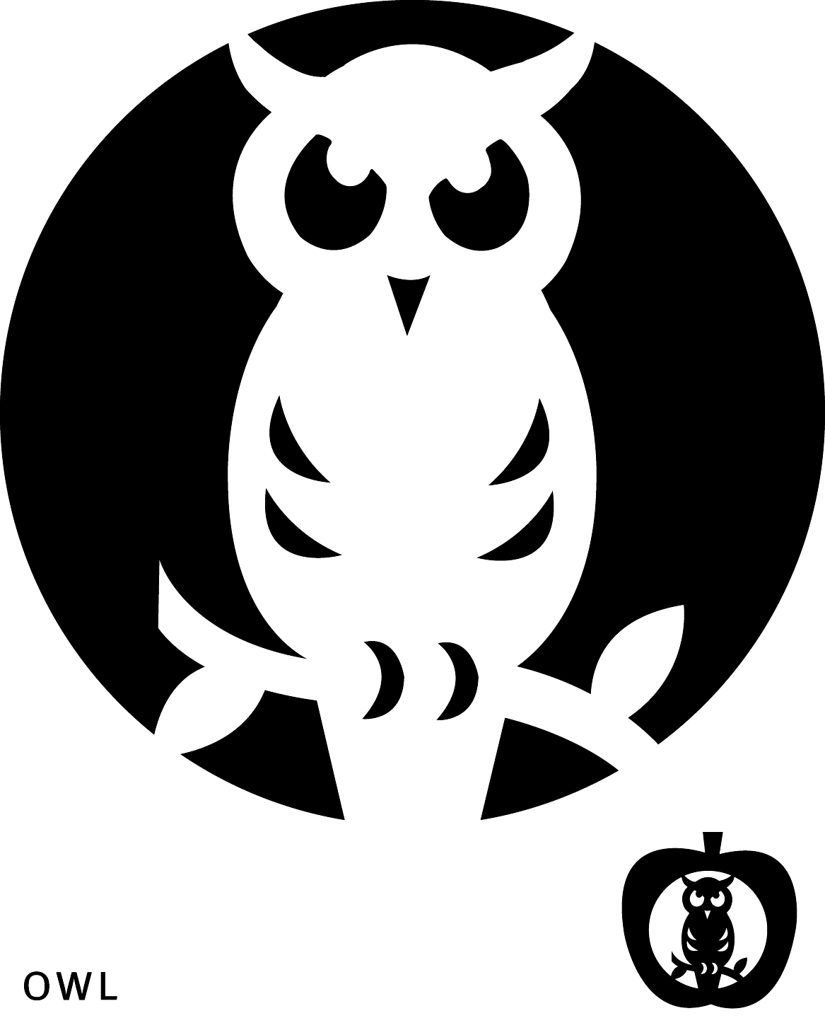 Best images of owl pumpkin template printable