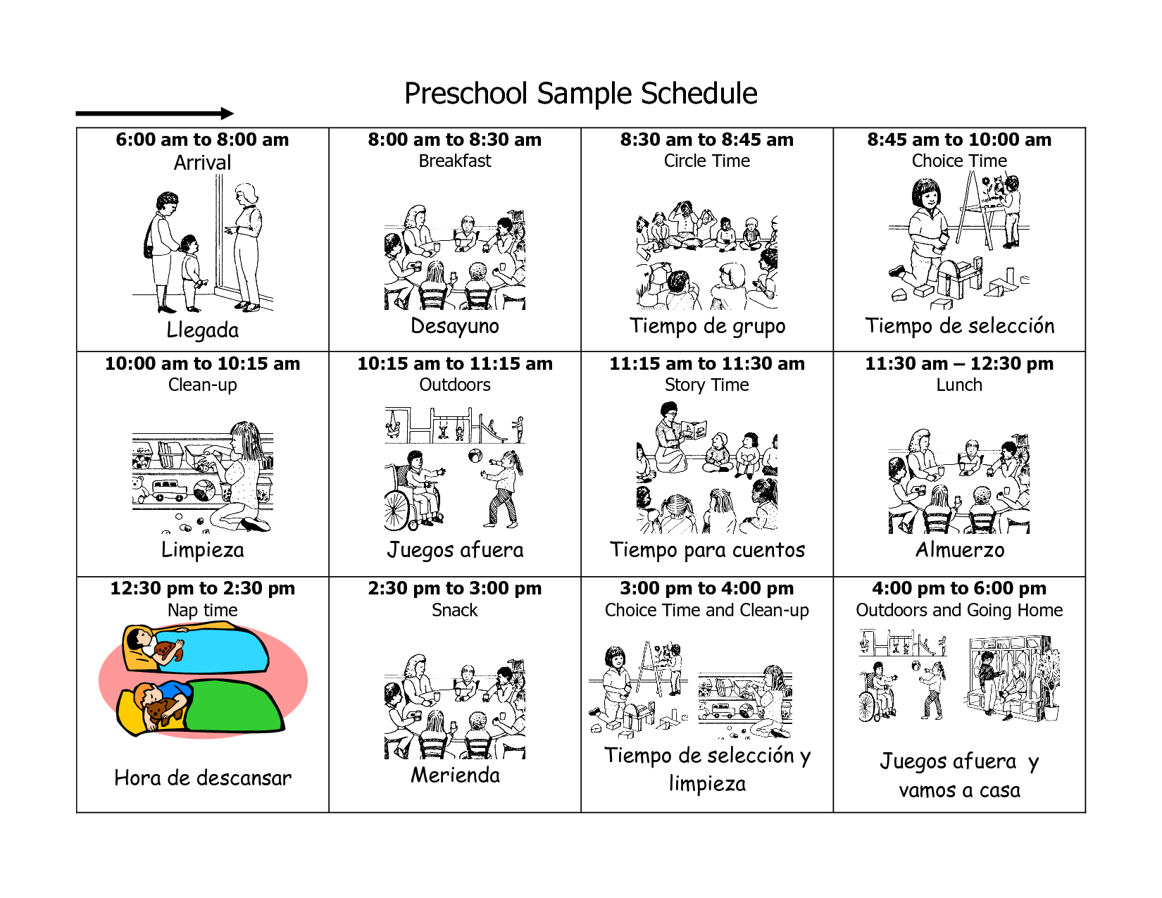 7 Images of Printable Picture Schedule For Preschool