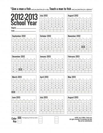 7 Images of School Calendar 2013 Printable