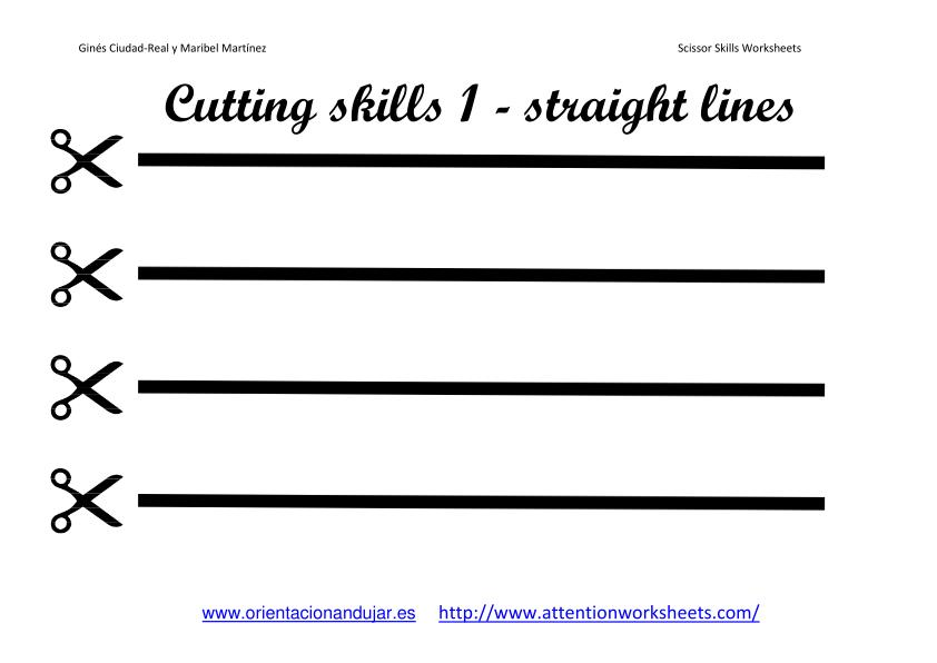 6 Images of Free Printable Preschool Worksheets Cutting