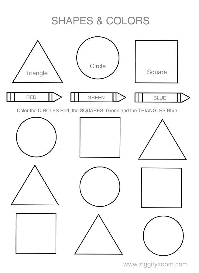 Pre K Shapes Worksheets : Best images of pre k shapes printables free printable