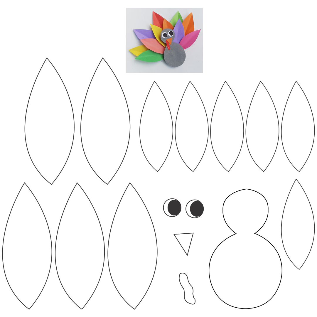 Printable Turkey Cut Out Pattern