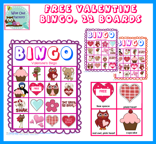 8 Images of Free Printable Valentine Bingo Cards For Class Party