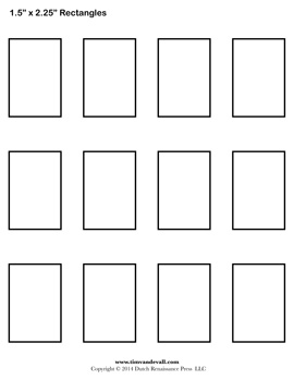 5 Best Images Of Rectangle Shape Template Printable