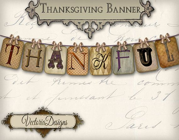 5 Images of Thankful Banner Printable