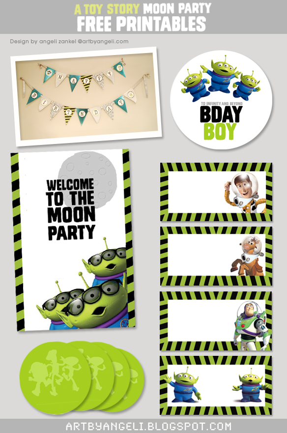 6 Images of Toy Story Party Hat Printable
