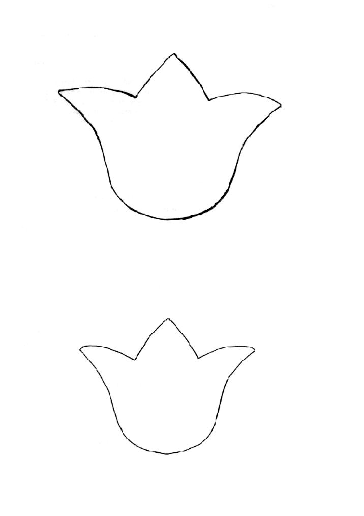 Gallery For gt Tulip Patterns To Cut Out