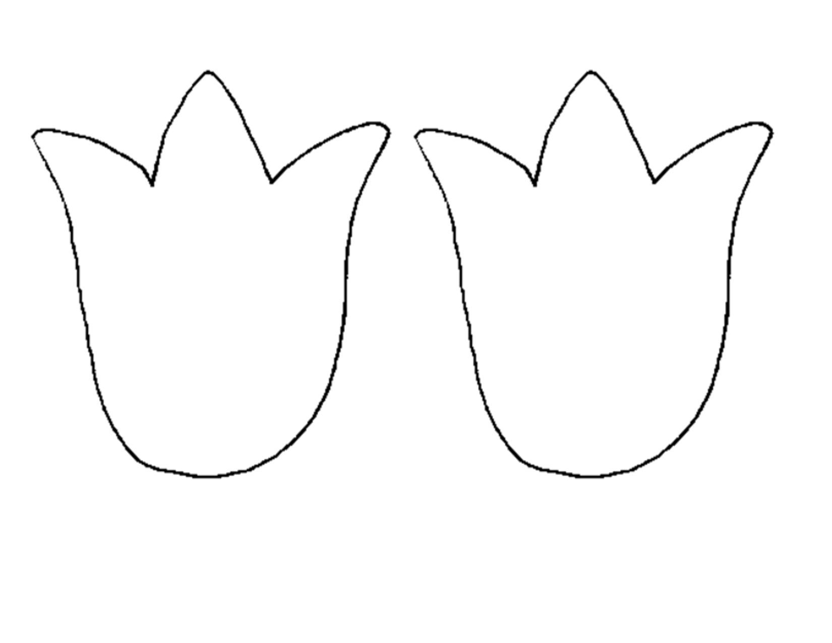 6 Images of 3D Tulip Template Printable