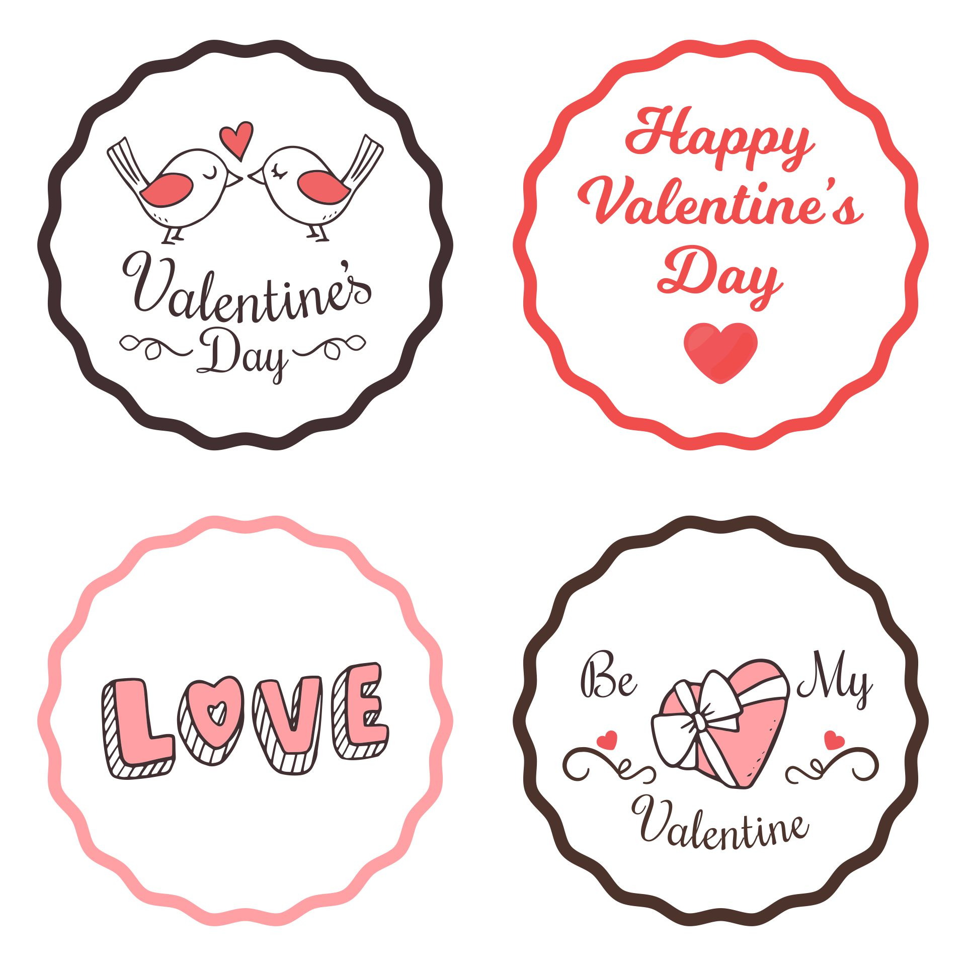 Valentines Cupcake Toppers Printables
