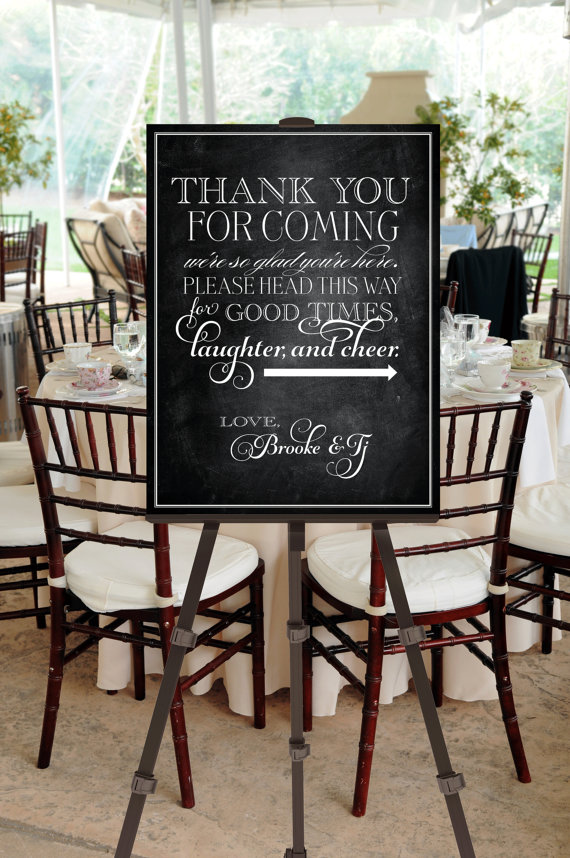 5 Images of Printable Welcome Wedding Signs