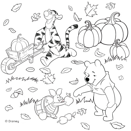 6 Images of Disney Fall Coloring Printable