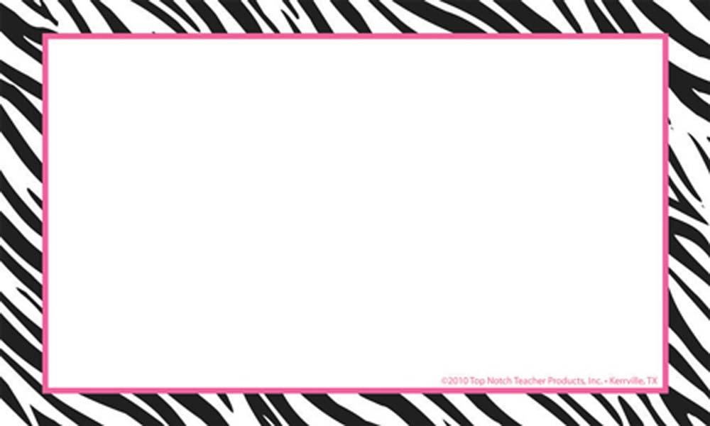 Zebra Print Border Clip Art Free