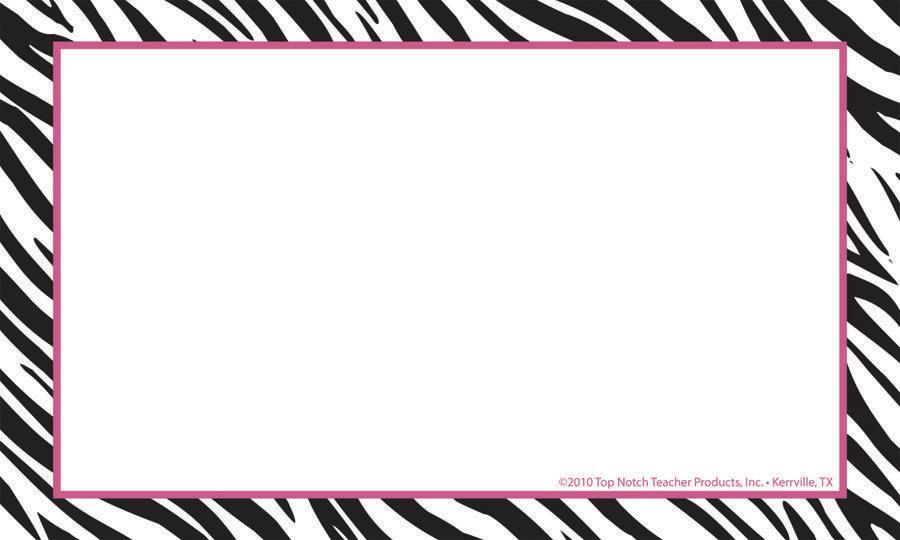 Zebra Print Border Template Blank
