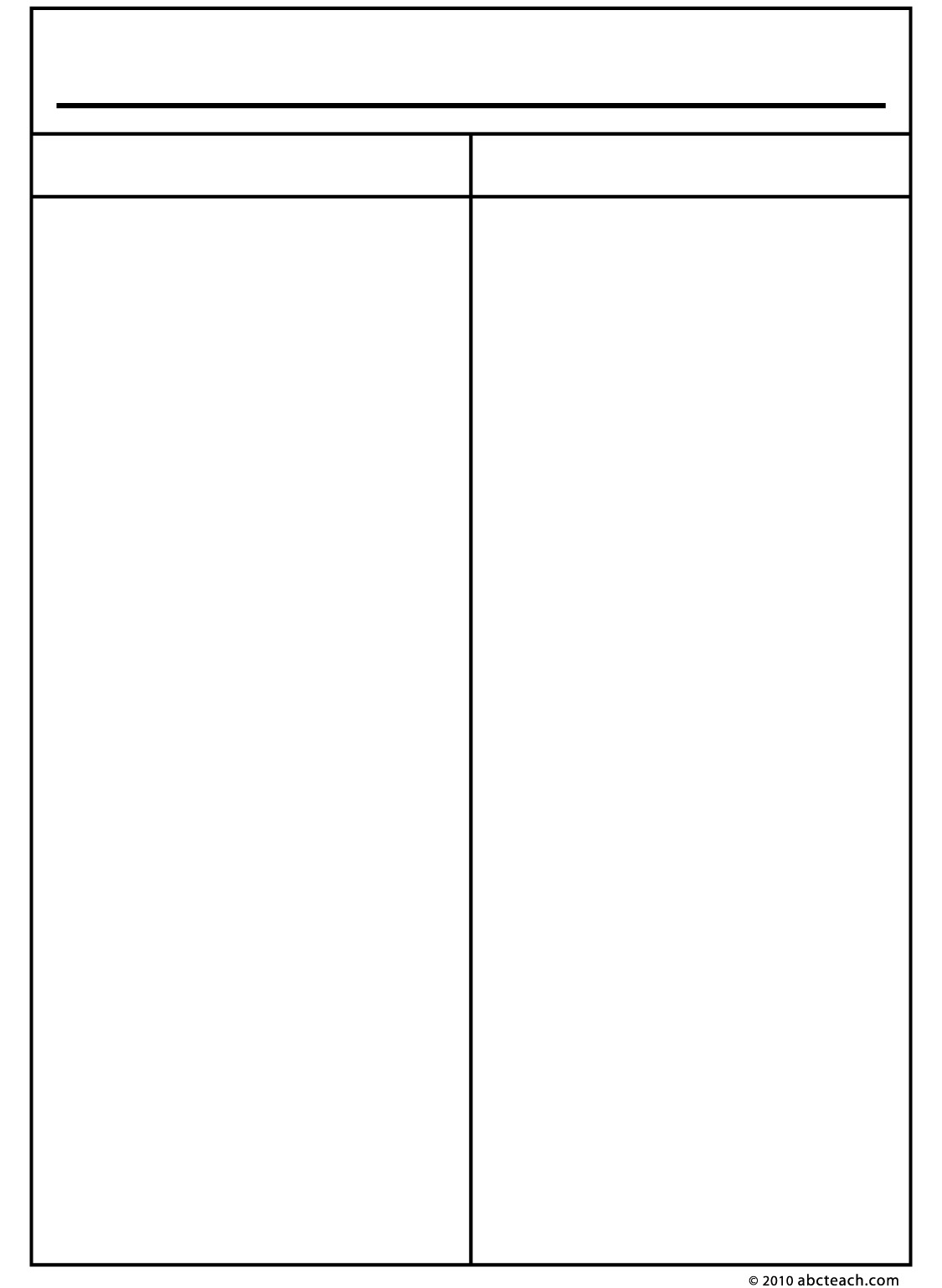 7 best images of printable two column notes blank 2 column chart template two column notes
