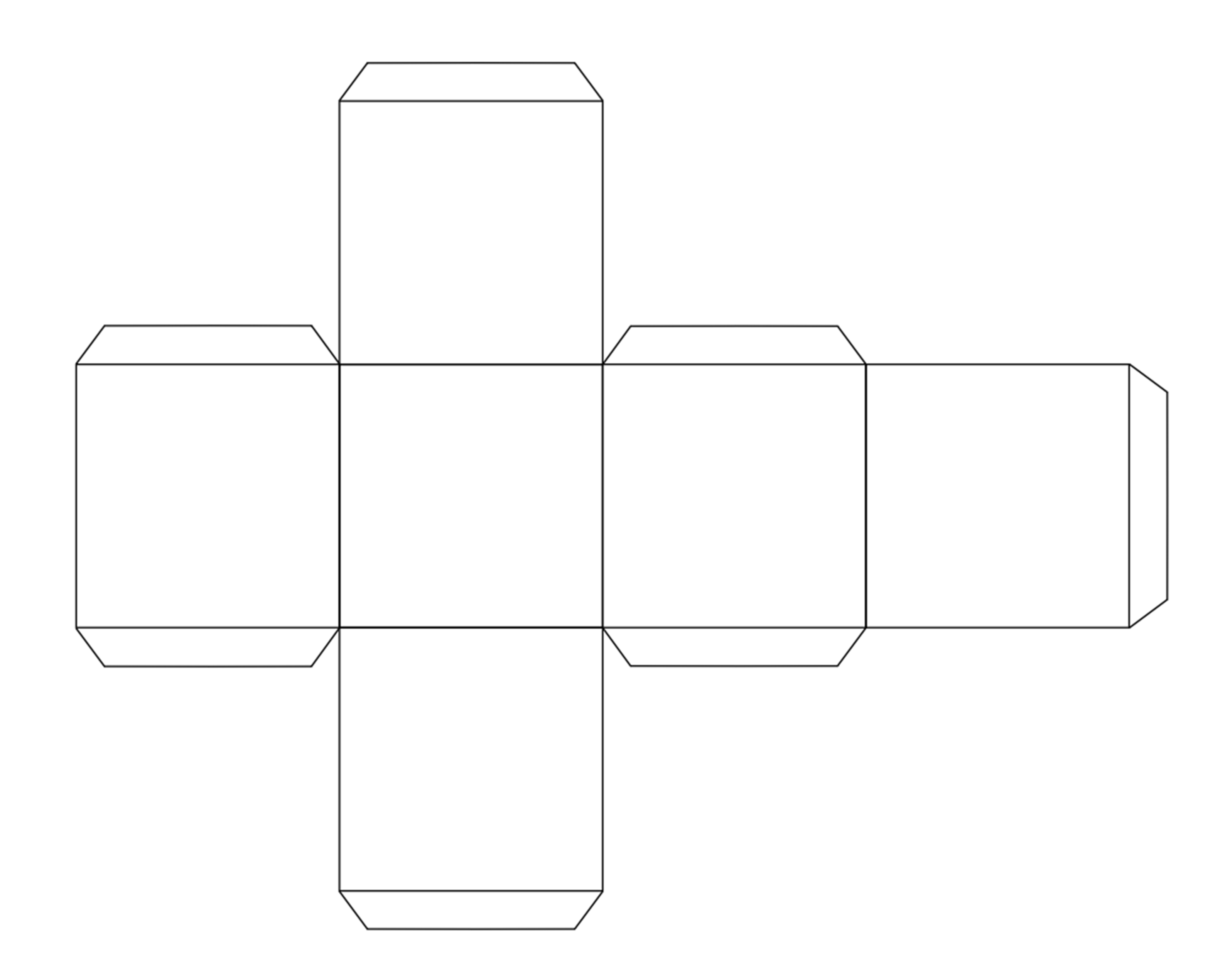 5 Images of Printable Cube Template Cut Out