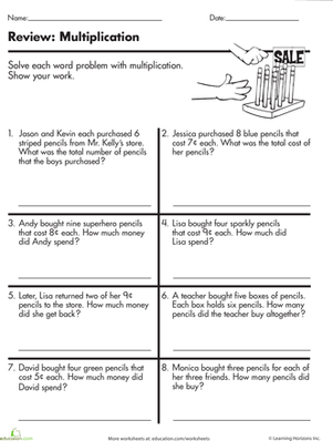 Printables 4th Grade Word Problems Worksheets printable multiplication word problems worksheets for 5th grade problem free and k5 learning