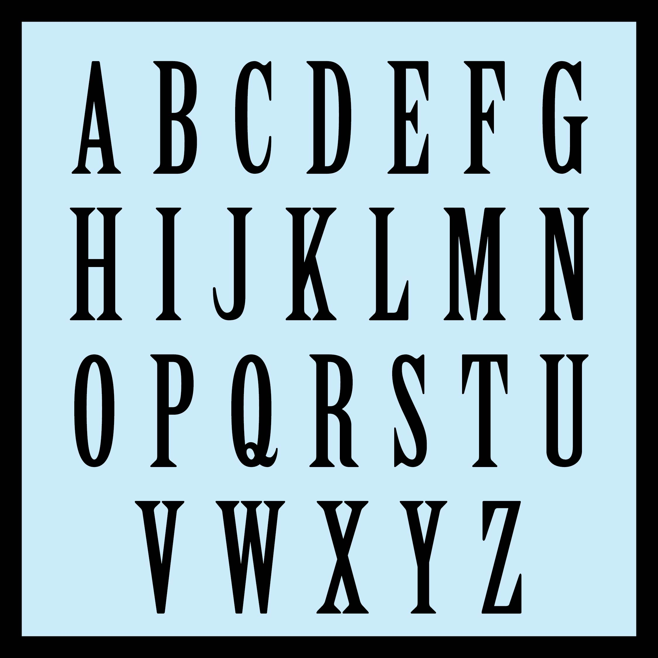 8 Inch Alphabet Letter Printable