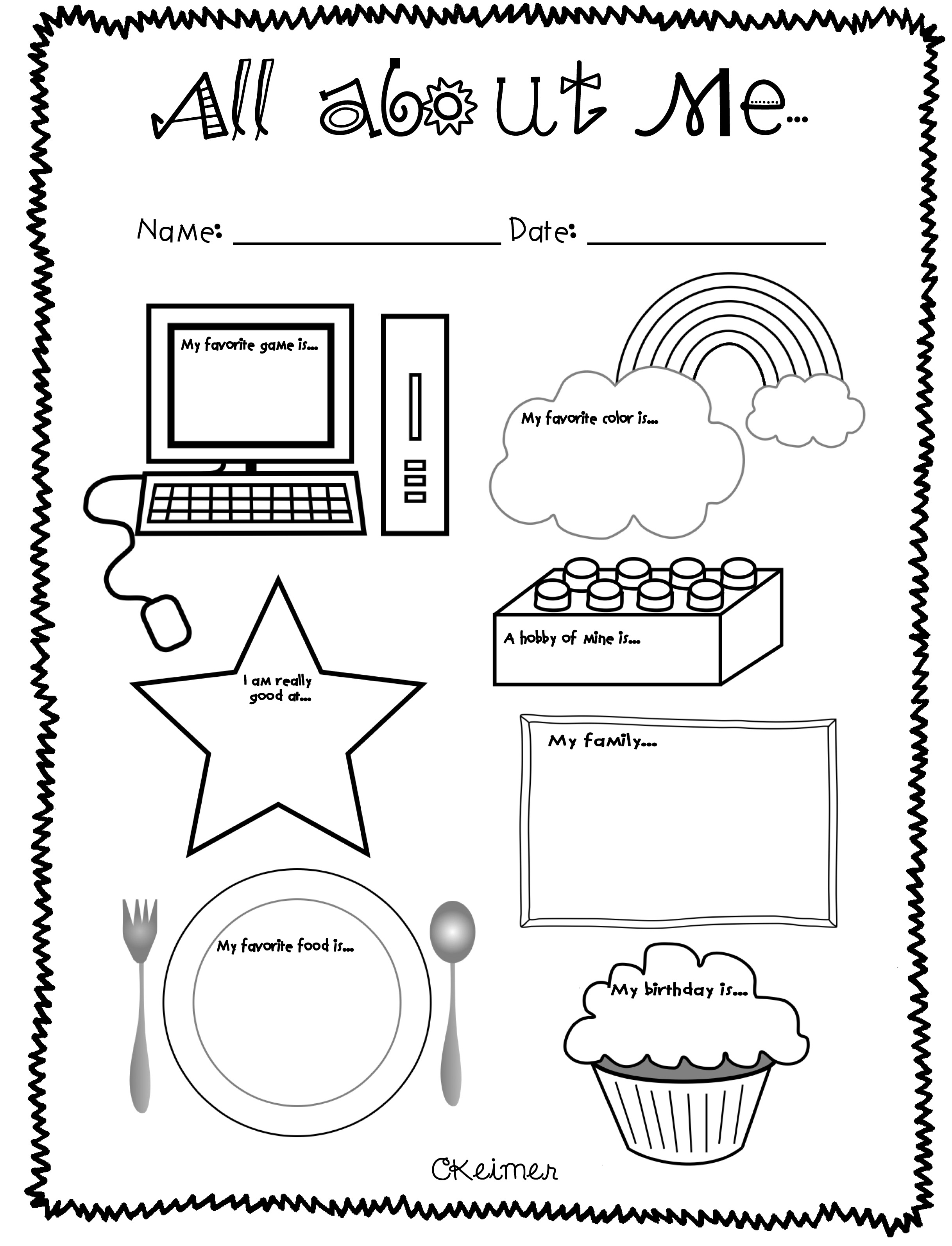 Worksheets All About Me Preschool Worksheets 6 best images of getting to know me printable preschool all about activities