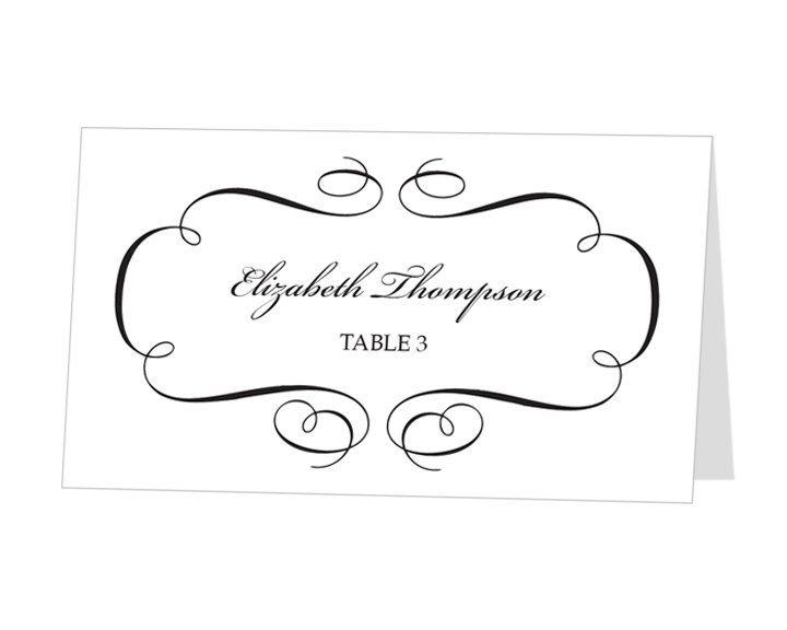 7 best images of printable placecards templates free for Templates for place cards for weddings
