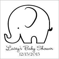 7 Images of Elephant Baby Shower Free Printable Templates