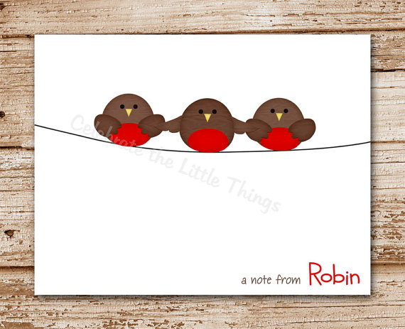 4 Images of Robin Bird Printable Stationery