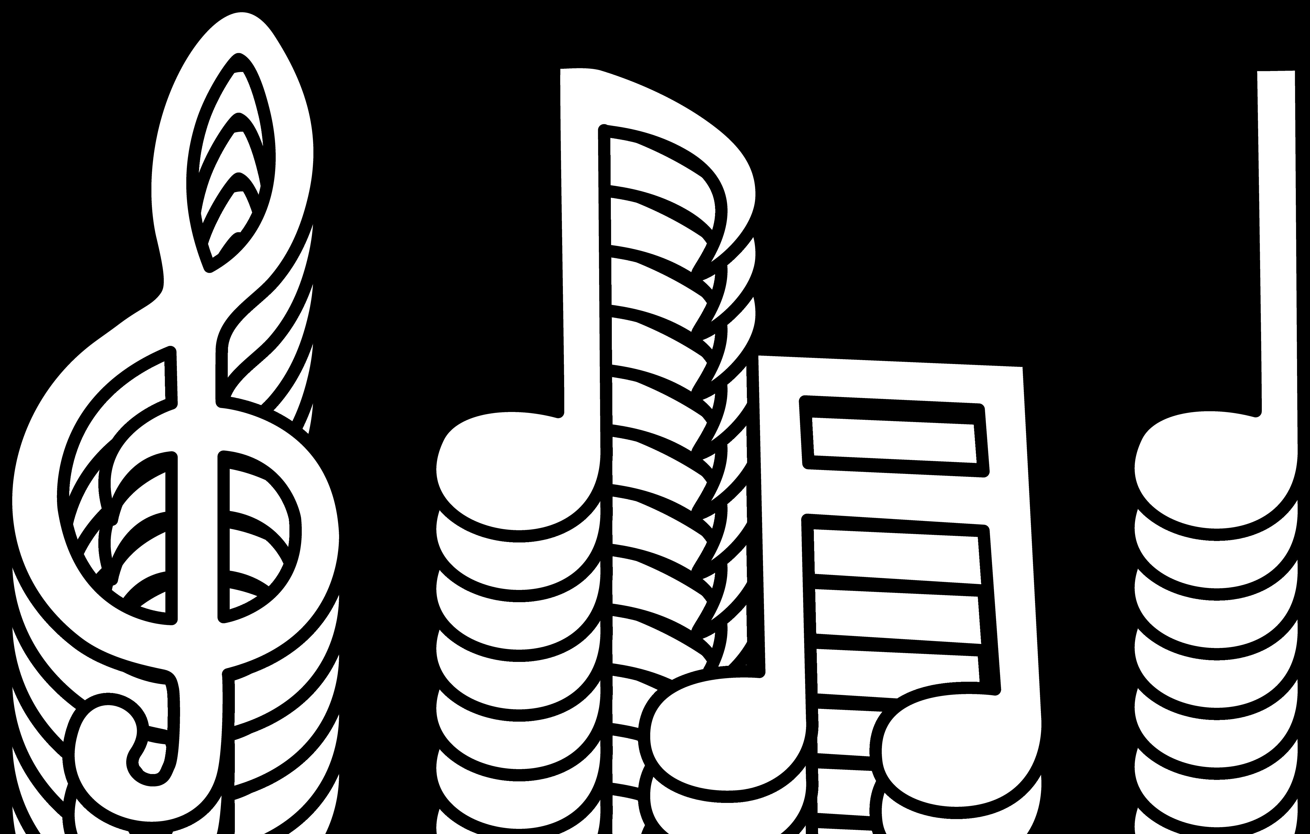 Black Music Notes Clip Art